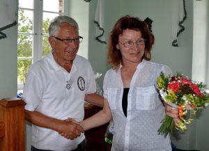 Dankeschön von Birgit Blumhagel (T11) - die Blumen waren allerdings für Frau Neum!